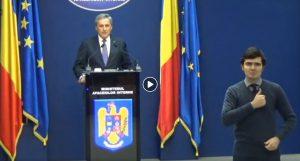 Declarațiile domnului Ministru Vela despre Ordonanța Militară nr. 10