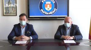 Declarație de presă primar Dragoș Chitic și prefect George Lazăr