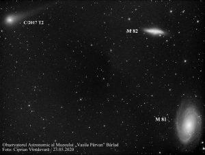 """Cometa C/2017 T2 suprinsă spectaculos de telescopul principal al Observatorului Astronomic al Muzeului """"Vasile Pârvan"""" din Bârlad"""